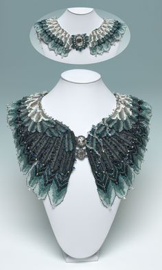 Stormy Petrel by Ann Braginsky - 2012 Bead Dream Contest, Category: Seed Bead Jewelry, 2nd Place