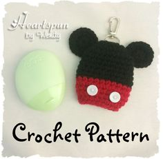 CROCHET PATTERN for Mickey Mouse and Minnie Mouse EOS Hand Lotion Holder Pdf Format Instant Download. (2.99 USD) by HeartspunByWendy