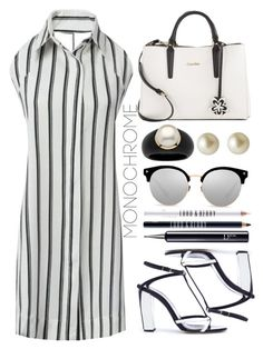 """""""Black and White"""" by simona-altobelli ❤ liked on Polyvore featuring Oscar de la Renta, Calvin Klein, Palm Beach Jewelry, Carolee, Lord & Berry and Christian Dior"""