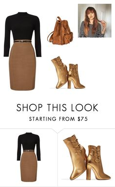 """""""Untitled #47"""" by madeline-paulot ❤ liked on Polyvore featuring Phase Eight, Gianvito Rossi and Yves Saint Laurent"""