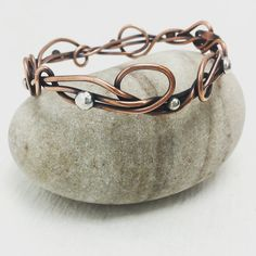 Tattoo Copper wire Tangled ooak medium Seaweed Kelp by simplyMegA