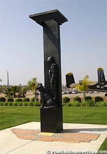 Vietnam War Dog Memorial in Riverside, California