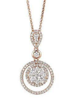 Snowy white Vanilla Diamonds set against soft pink Strawberry Gold // LeVian