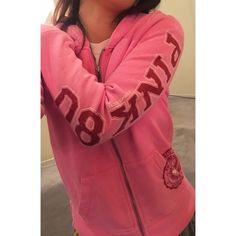 Victorias Secret PINK hoodie. Phi Beta VS PINK sweatshirt. In great condition. PINK Victoria's Secret Sweaters