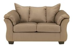 Darcy - Mocha Stationary Loveseat by Signature Design by Ashley