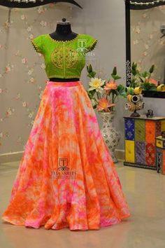 Pretty in Plaid Maxi Skirt by Shabby Apple Lehenga Crop Top, Half Saree Lehenga, Saree Gown, Lehnga Dress, Sarees, Kurti Designs Party Wear, Lehenga Designs, Designer Anarkali Dresses, Designer Dresses