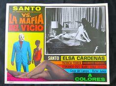 """EL SANTO  VS LA MAFIA DEL VICIO"" ELSA CARDENAS SEXY N MINT LOBBY CARD PHOTO 70"