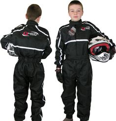 Childrens-Kids-RACE-SUIT-Overalls-Karting-Motocross-Dirt-Bike-by-Qtech