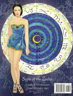 Signs of the Zodiac by the talented Sandra Vanderpool. A costume for each sign of the zodiac, with luscious color in each imaginative design. 2 of 4
