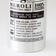 YouOrganic Skincare Neroli Hydrating Mist #naturalskincare #madeinireland