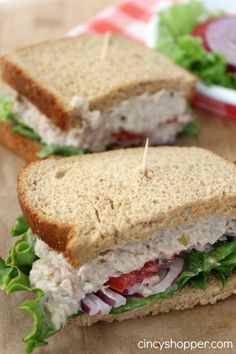 CopyCat Panera Tuna Salad Sandwich Recipe- Perfect sandwich to make at home this spring and summer.