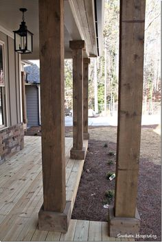 1000 ideas about wood columns on pinterest fiberglass for Rustic porch columns