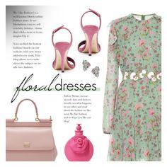 """Warmer Days Ahaid: Spring Dresses"" by beautifulplace ❤ liked on Polyvore featuring Giambattista Valli, Dolce&Gabbana, Giuseppe Zanotti, Uno de 50 and Valentino"