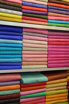 Lots of silk... but it isn't cheap...  Living in Sin: Olympic Market, Phnom Penh, Cambodia