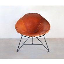 Oval Leather Chair - Heath Ceramics