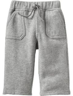 Fleece Pants for Baby - Cozy fleece pants are great for cool weather. Features an elasticized waistband, decorative drawstring, and slant patch pockets in front.