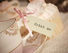 Serve tea with cute tags. | 33 Subtle Ways To Add Your Love Of Disney To Your Wedding