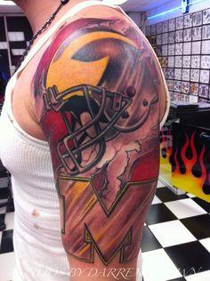 football tattoos | american football tattoo | tattoos by darren brown.com