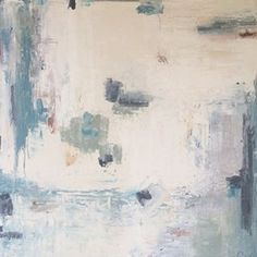 """HOT OFF THE EASEL: white, blue and beautiful! a brand new dreamy abstract by @andreacostastudio. 