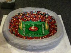 49er football stadium cake @Emily Olson Ledford