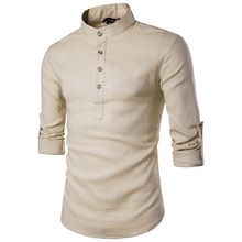 {Like and Share if you want this  Fashion Plus Size Male Pure Color Cotton Linen Shirt Slim Fit Single Breasted Social Casual Long Sleeve Stand Collar Shirts Men|    Refreshing arriving Fashion Plus Size Male Pure Color Cotton Linen Shirt Slim Fit Single Breasted Social Casual Long Sleeve Stand Collar Shirts Men now available for purchase $US $26.80 with free delivery  you'll discover this amazing item not to mention more at the online shop      Have it today here…