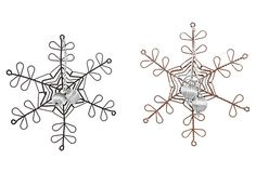 Wire Snowflake Ornaments, Asst. of 2 on OneKingsLane.com