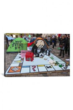 Occupy London Monopoly Print by Banksy - Click Here to Order at JackThreads