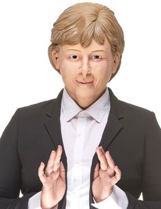 Funny Angela mask for adults: This latex mask for adults represents the face of Angela, the German Chancellor.The eyes nose and mouth and ears are pierced for more comfort and to look through the mask.Play this German...