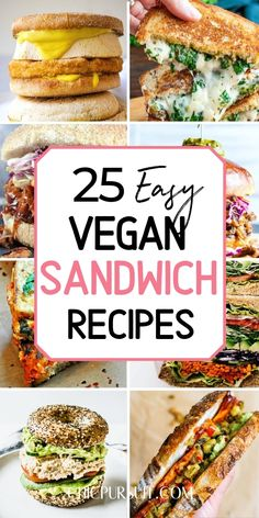 The best vegan sandwich recipes easy Vegan Sandwich Filling, Healthy Sandwich Recipes, Sandwich Ideas, Healthy Sandwiches, Vegan Breakfast Recipes, Vegetarian Recipes, Cooking Recipes, Delicious Sandwiches, Cooking Tips