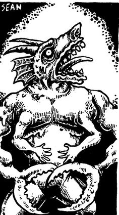 Glabrezu by Sean Aaberg Sci Fi Art, Goblin, Demons, Dungeons And Dragons, Line Art, Old School, Devil, Fantasy Art, Lord