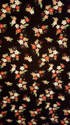 Cotton Fabric Perky Petals on Black Floral Print Premium Cotton Fabric Michael Miller, Half yard, Fu Floral Wallpaper Iphone, Ocean Wallpaper, Cellphone Wallpaper, Textured Wallpaper, Aesthetic Iphone Wallpaper, Cool Wallpaper, Aesthetic Wallpapers, Starry Night Wallpaper, Summer Color Palettes