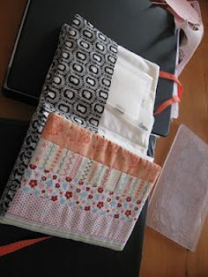 folder to hod my embossing folders and framlets dies made from strips of Stampin' Up fabric