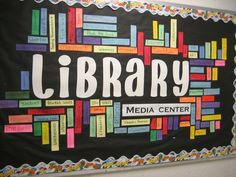 Student created 'Wordle' for the library bulletin board at the beginning of the year.