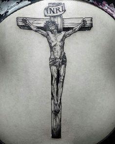 Tattoo Simple Cross Jesus New Ideas Jesus Forearm Tattoo, Jesus On Cross Tattoo, Simple Cross Tattoo, Christ Tattoo, Jesus Tattoo, Jesus On The Cross, Rare Tattoos, New Tattoos, Traditional Tattoo Sketches