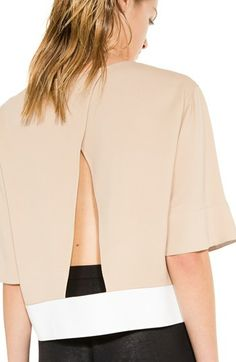 In love with this open back top.   @Nordstrom