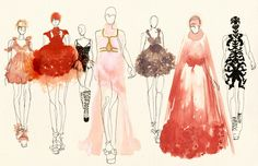 Alexander McQueen Fashion Illustrations 2013 Art Print by Kimberly Lynn Lams - X-Small Art And Illustration, Designer Clothing Websites, Canvas Prints, Art Prints, Sell Your Art, Timeless Fashion, Alexander Mcqueen, Saatchi Art, Drawings