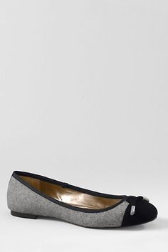 Women's Emma Classic Captoe Ballet Shoes from Lands' End
