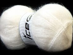 White Mohair Yarn, worsted weight,  Mohair Blend Yarn, 240 yards per skein, Ice Yarns Mohair, # 24640 - pinned by pin4etsy.com