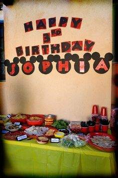 DIY Mickey Mouse Birthday Party
