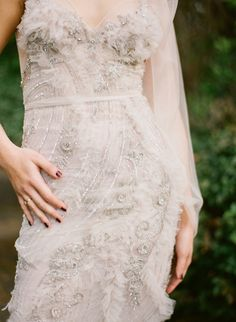 Gorgeous Wedding Dress Detail | Jodi McDonald Photography | http://burnettsboards.com/2013/11/celebration-bridal-fashion-decades/