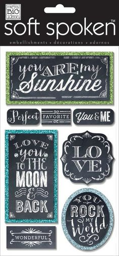 SSL-39 in mambi shop Love you to the Moon and Back soft spoken stickers.