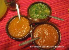 Salsas Mexicanas en Restaurante Doña Paca en Pátzcuaro