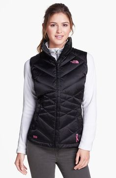 The North Face 'Aconcagua' Pink Ribbon Down Vest: Made in support of Boarding For Breast Cancer, a non-profit foundation that aims to educate and inspire young adults.