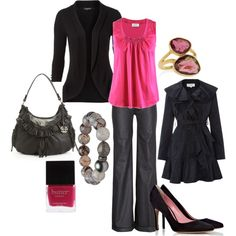 """""""pink workday"""" by lagu on Polyvore- love this shirt...well of course I do- its $1,200+ !!"""