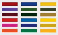 Gerhard Richter Achtzehn Farbtafeln Eighteen Colour Charts 1966 18 parts, in total: 250 cm x 450 cm Catalogue Raisonné: 140 Enamel on Alucubond