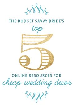 Our Top 5 Online Resources for Cheap Wedding Decor. Or just party décor. Luna Bazaar Koyal wholesale Save on Crafts Oriental Trading