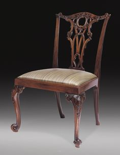 A suite of eleven George III mahogany side chairs after a design by Thomas Chippendale, ci. 1765