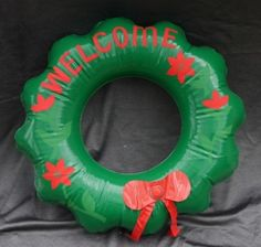 Set of 3 Inflatable Merry Christmas Wreaths Pool Green Party Favor Decoration