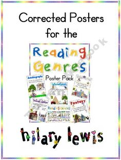 Reading Genres poster-Informational, Realistic Fiction