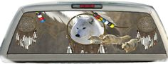 Wolves Indian Dream Catcher Rear Window Graphic Tint Decals
